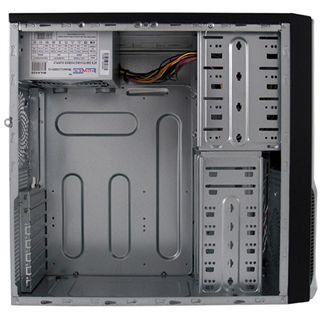 LC-Power 7008B Midi Tower 420 Watt schwarz/silber