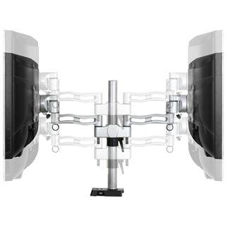 Arctic Cooling Dual Monitorhalterung Z2 mit USB-Hub silber