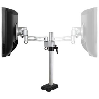 Arctic Cooling Monitorhalterung Z1 mit USB-Hub silber