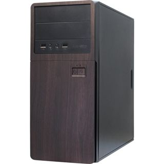 Inter-Tech SY-117 Midi Tower 500 Watt schwarz/braun