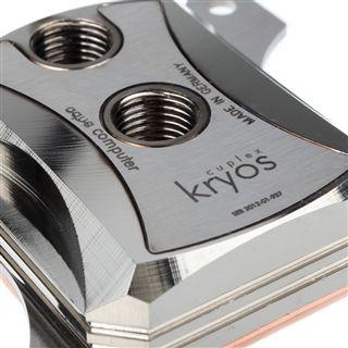 Aqua Computer Cuplex Kryos Edelstahl / Kupfer / Messing (vernickelt) CPU Kühler