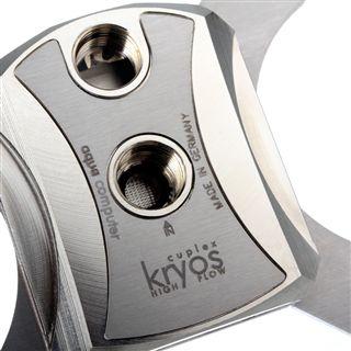 Aqua Computer Cuplex Kryos Edelstahl / Messing (vernickelt) / Silber CPU Kühler