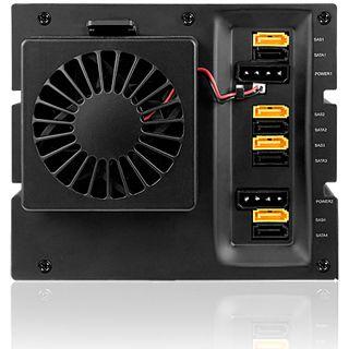 """ICY BOX IB-544SSK 4fach SAS/SATA Wechselrahmen für 3.5"""" Festplatten (54104)"""