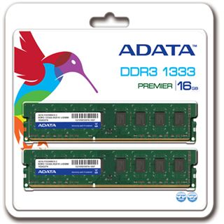 16GB ADATA Premier-Serie DDR3-1333 DIMM CL9 Dual Kit