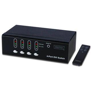 Digitus VGA Switch DVI 01 in 04 DVI / Audio Switch DS-45211