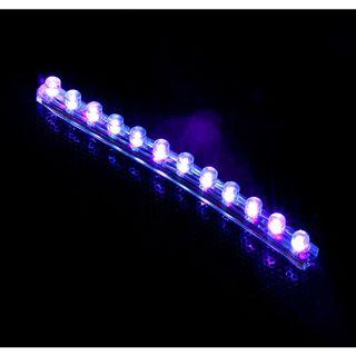 LAMPTRON 12 cm UV LED-Strip mit 12 LEDs für 4-Pin Molex (LAMP-LEDFL1205)