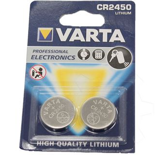 Varta Electronics CR2450 Lithium Knopfzellen Batterie 3.0 V 2er Pack