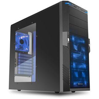 Sharkoon T9 Value Blue Edition Midi Tower ohne Netzteil schwarz