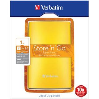 """1000GB Verbatim Store and Go Portable 53075 2.5"""" (6.4cm) USB 3.0 gelb"""