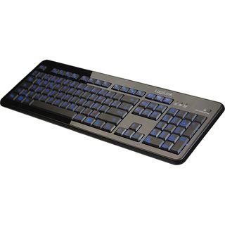 LogiLink Keyboard Illuminated USB Deutsch schwarz (kabelgebunden)