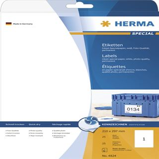 Herma 4824 Inkjet-Etiketten 21.0x29.7 cm (25 Blatt (25 Etiketten))