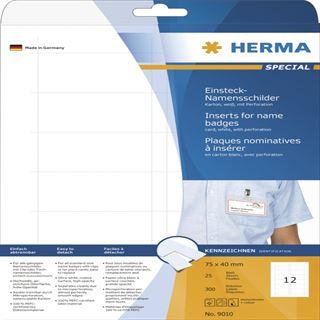 Herma 9010 nicht klebend Namensetiketten 4x7.5 cm (25 Blatt (300 Etiketten))