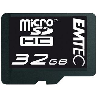 32 GB EMTEC microSDHC Class 6 Retail inkl. Adapter
