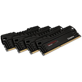 16GB HyperX Beast T3 DDR3-1866 DIMM CL10 Quad Kit