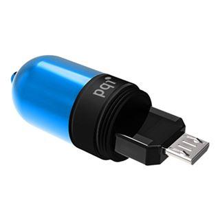 16 GB PQI Connect Series 302 blau USB 3.0 und microUSB