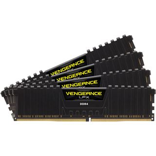 32GB Corsair Vengeance LPX schwarz DDR4-2400 DIMM CL14 Quad Kit