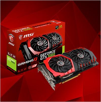 6GB MSI GeForce GTX 1060 Gaming X 6G Aktiv PCIe 3.0 x16 (Retail)