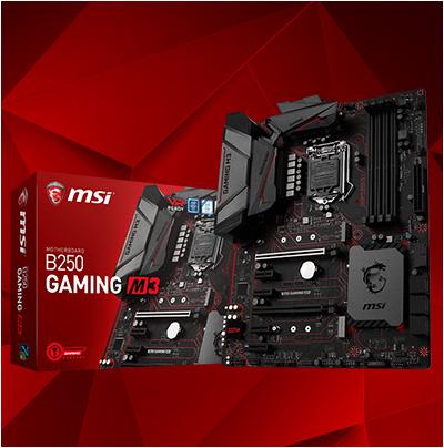 MSI B250 Gaming M3 Intel B250 So.1151 Dual Channel DDR ATX Retail
