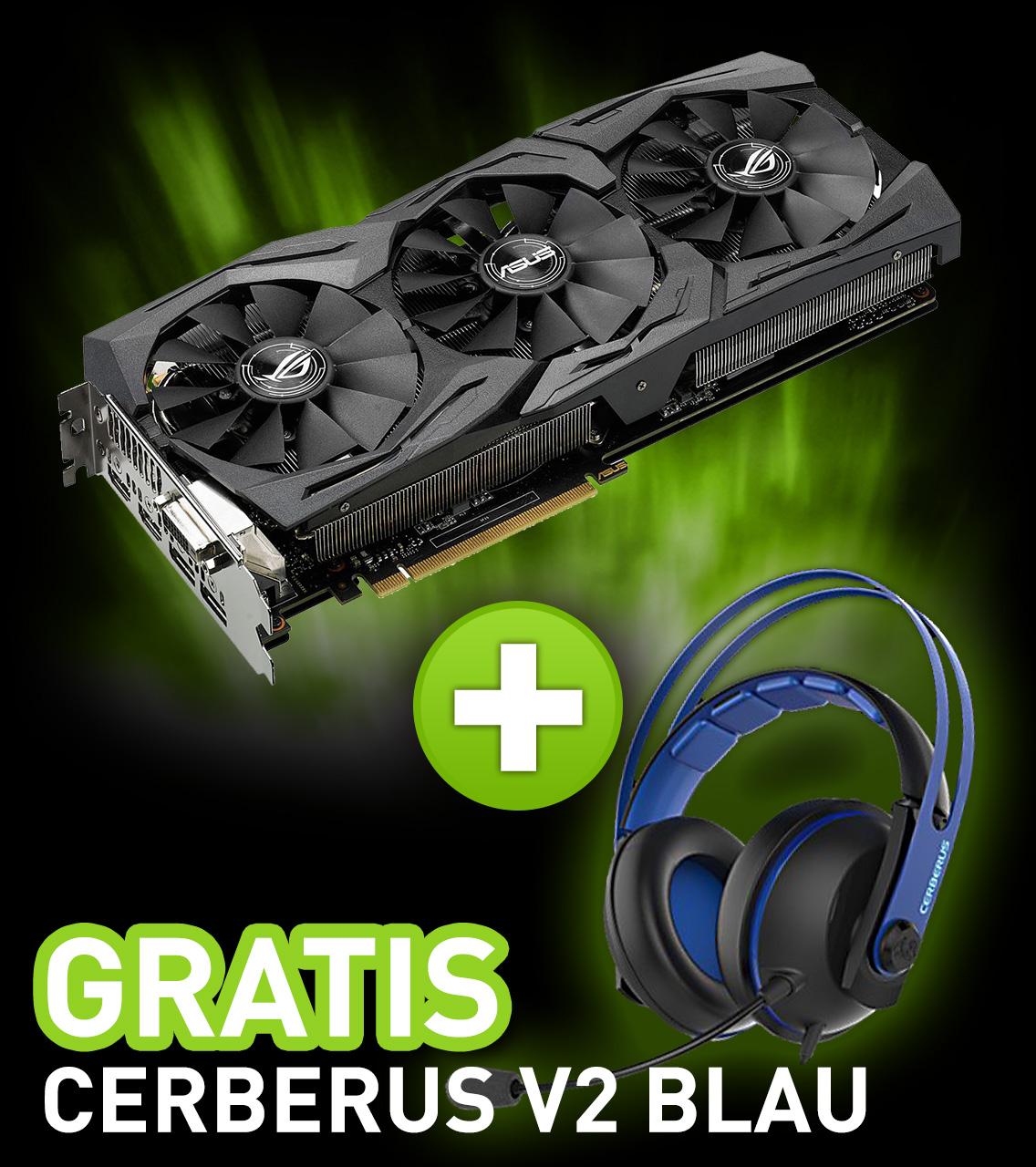 8GB Asus GeForce GTX 1080 Strix Advanced Aktiv PCIe 3.0 x16 (Retail)