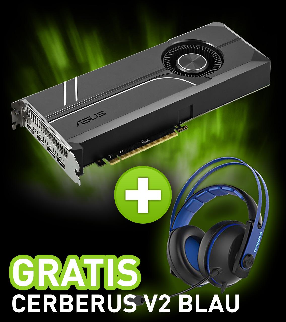11GB Asus GeForce GTX 1080 Ti Turbo Aktiv PCIe 3.0 x16 (Retail)
